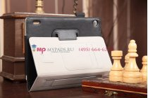 """Фирменный оригинальный чехол-обложка для Acer Iconia Tab A1-810/A1-811 черный натуральная кожа """"Prestige"""" Италия"""