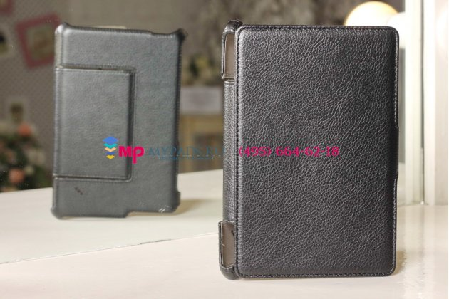 """Фирменный чехол для Acer Iconia Tab B1-A71 черный кожаный """"Deluxe"""""""
