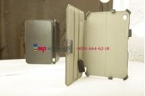 """Фирменный оригинальный чехол для Acer Iconia Tab W3-810/811 с мульти-подставкой и держателем для руки черный натуральная кожа """"Deluxe"""" Италия"""