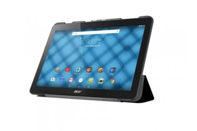 """Фирменный умный тонкий чехол для Acer Iconia One B3-A10 / B3-A11 10.1/ Android 5.1 / NT.LB6EE.003 / MediaTek MT8151 1.7 GHz   """"Il Sottile"""" черный пластиковый"""