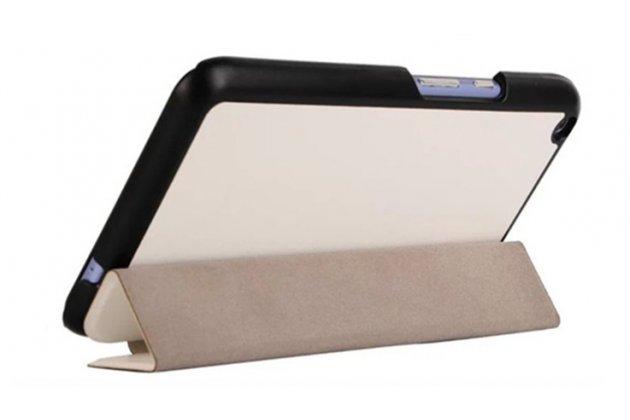"""Фирменный умный чехол-книжка самый тонкий в мире для Acer Iconia Talk S A1-724 """"Il Sottile"""" белый кожаный"""