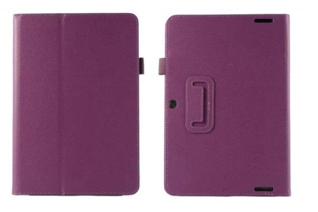 Фирменный оригинальный чехол обложка для Acer Iconia Tab A3-A20/A3-A20FHD-K76G фиолетовый кожаный