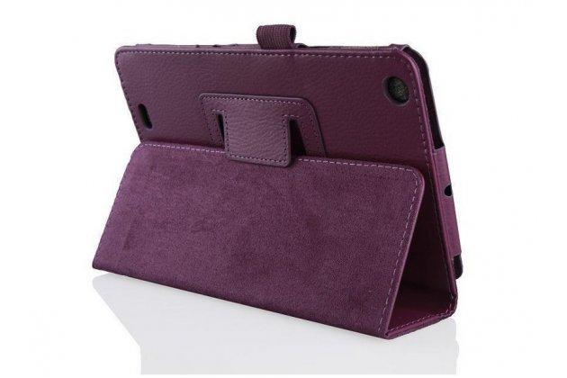 Фирменный чехол-обложка с подставкой для Acer Iconia Tab One B1-730/B7-731HD фиолетовый кожаный