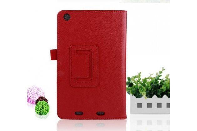 Чехол-обложка с подставкой для Acer Iconia Tab One B1-730/B7-731HD красный кожаный