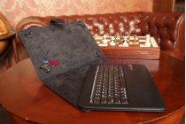 Чехол со съёмной Bluetooth-клавиатурой для планшета Acer Iconia Tab B1-730/B1-731 черный кожаный + гарантия