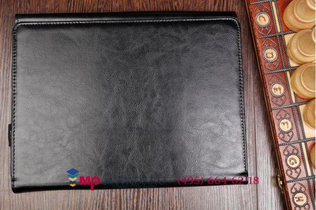 Фирменный чехол для Acer Aspire Switch 10 (SW5-011) Dock Keyboard с отделением под клавиатуру черный кожаный
