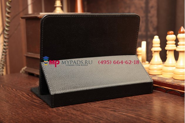 Чехол обложка для Acer Aspire Switch 11 черный кожаный