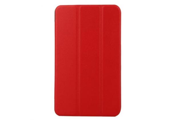 """Фирменный умный чехол самый тонкий в мире для планшета Acer Iconia Tab B1-750/B1-751 """"Il Sottile"""" красный кожаный"""