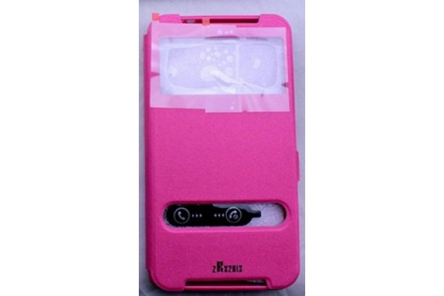 """Фирменный чехол-книжка для Acer Iconia Talk S A1-724 (NT.L7ZEE.001 / Q6YQ) 7.0"""" розовый с окошком для входящих вызовов и свайпом водоотталкивающий"""