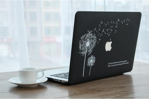 "Фирменный ультра-тонкий пластиковый чехол-футляр-кейс для Apple MacBook Air 11 Early 2015 (MJVM2/ MJVP2) 11.6 / Apple MacBook Air 11 Early 2014 ( MD711 / MD712) 11.6 ""тематика Одуванчик"". Цвет в ассортименте."