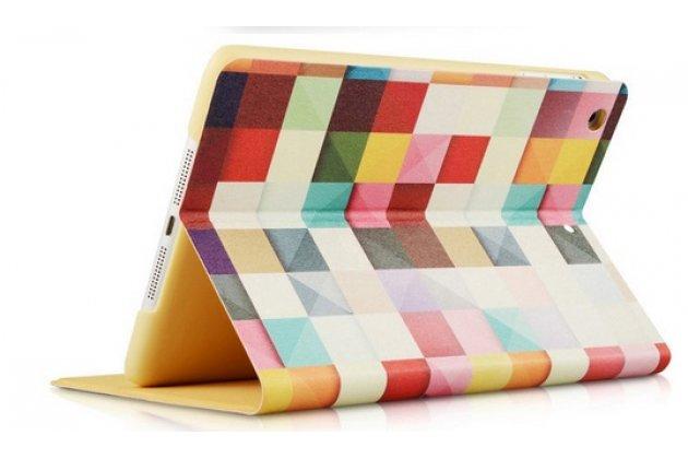 "Фирменный необычный чехол для iPad Mini 4 ""тематика яркая Мозаика"""