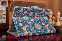 Фирменный чехол-обложка с безумно красивым расписным рисунком Оленя в цветах для планшета  ipad mini 4  кожаный
