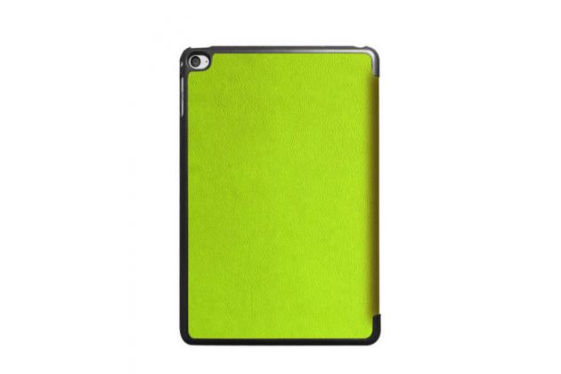 """Фирменный умный чехол-книжка самый тонкий в мире для iPad mini 4 """"Il Sottile"""" зеленый кожаный"""