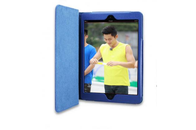Чехол закрытого типа из мягкой кожи для iPad Mini 4 синий