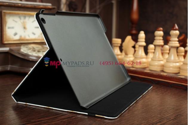 "Чехол для iPad Air ""тематика короны"" кожаный белый"