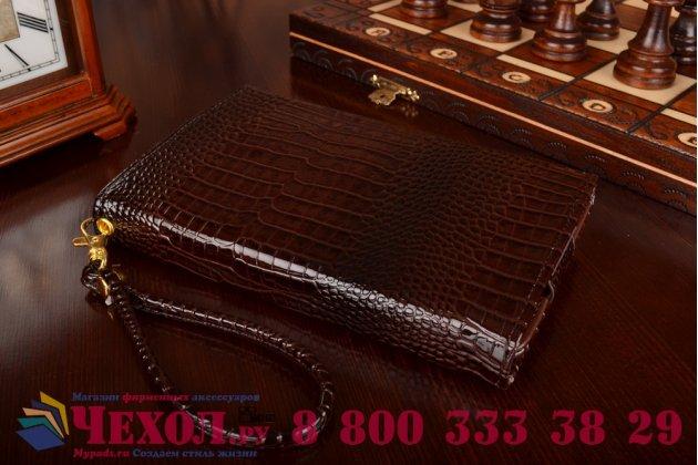 Фирменный роскошный эксклюзивный чехол-клатч/портмоне/сумочка/кошелек из лаковой кожи крокодила для планшетов Acer Iconia Tab W700/W701. Только в нашем магазине. Количество ограничено.