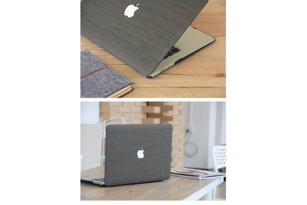 Фирменный ультра-тонкий пластиковый чехол-футляр-кейс для Apple MacBook Air 11 Early 2015 (MJVM2/ MJVP2) 11.6 / Apple MacBook Air 11 Early 2014 ( MD711 / MD712) 11.6 с дизайном под дерево