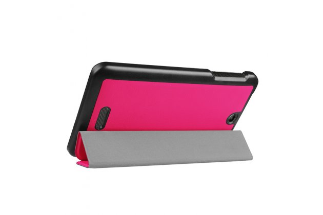 Фирменный умный чехол самый тонкий в мире для Acer Iconia One 7 B1-780 iL Sottile малиновый пластиковый Италия
