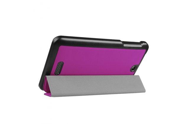Фирменный умный чехол самый тонкий в мире для Acer Iconia One 7 B1-780 (NT.LCJEE.004) iL Sottile фиолетовый пластиковый Италия