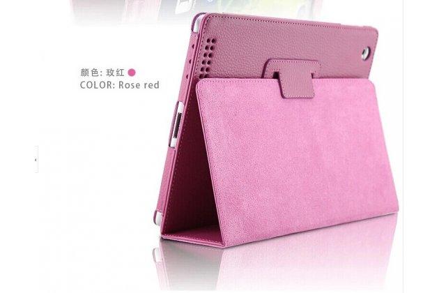 Фирменный чехол-обложка с подставкой для Acer Iconia One B3-A20 (NT.LBYEE.004) фиолетовый кожаный