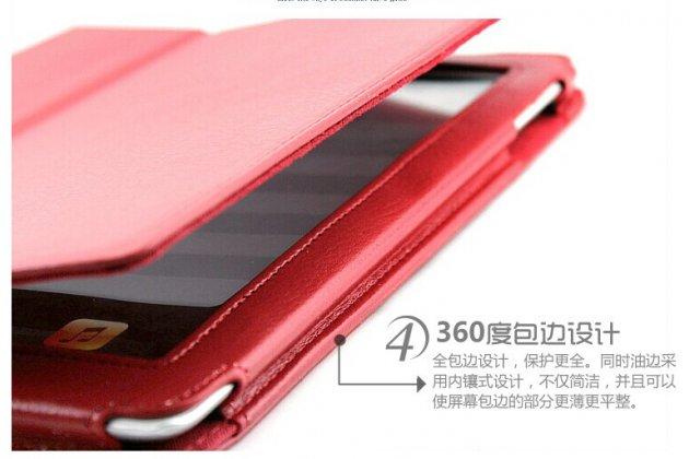 Фирменный чехол-обложка с подставкой для Acer Iconia One B3-A20 (NT.LBYEE.004) красный кожаный