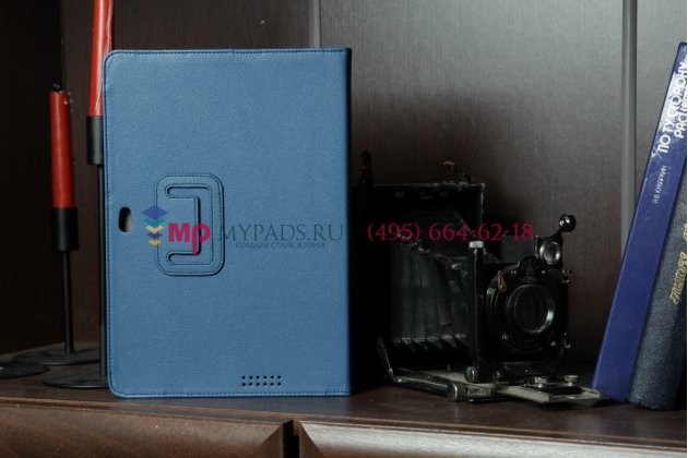 Чехол для Asus TF201 синий кожаный