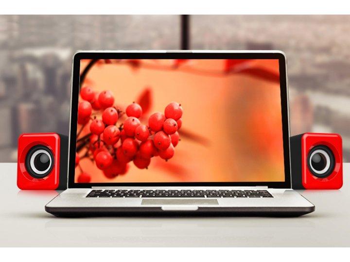 Компактная проводная акустическая система/ колонка для ноутбука компьютера Usb 1.3м