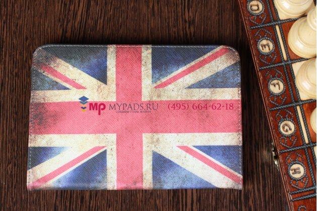 """Чехол-обложка для iPad Mini тематика """"ретро британский флаг"""" кожаный"""