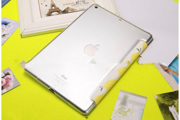 """Чехол для iPad Mini """"тематика Лимоны"""" кожаный желтый"""